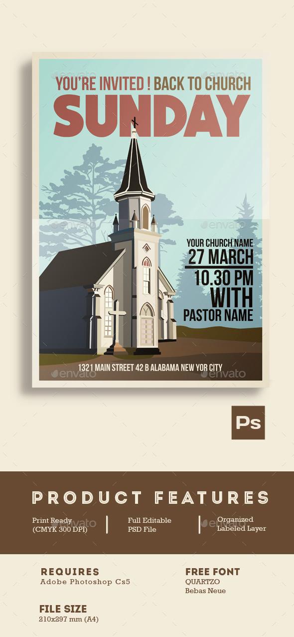 Church Event Flyer Poster - Church Flyers