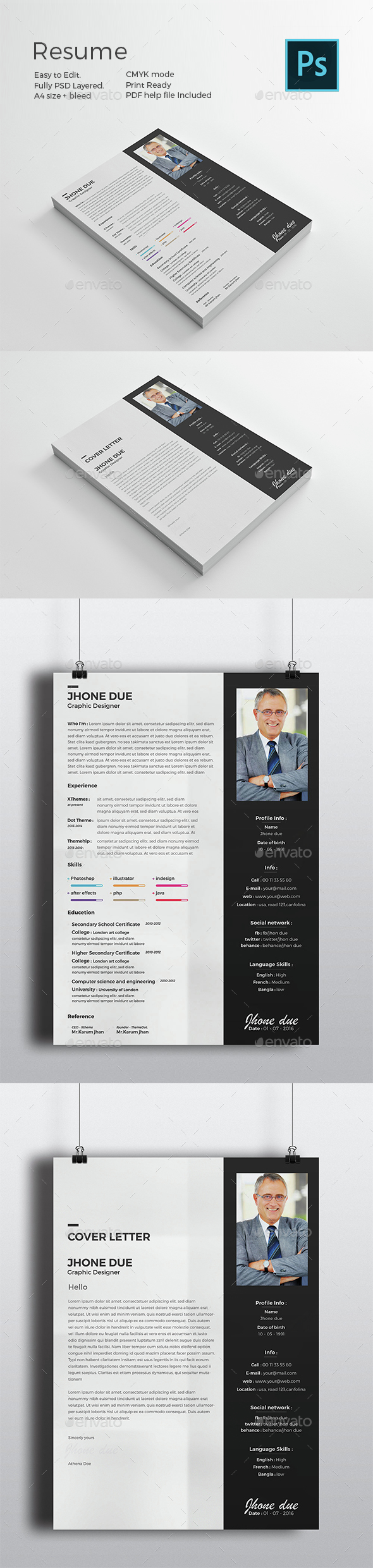 Black Resume - Resumes Stationery