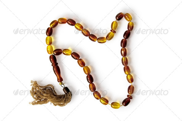 Rosaries yellow-brown - Stock Photo - Images