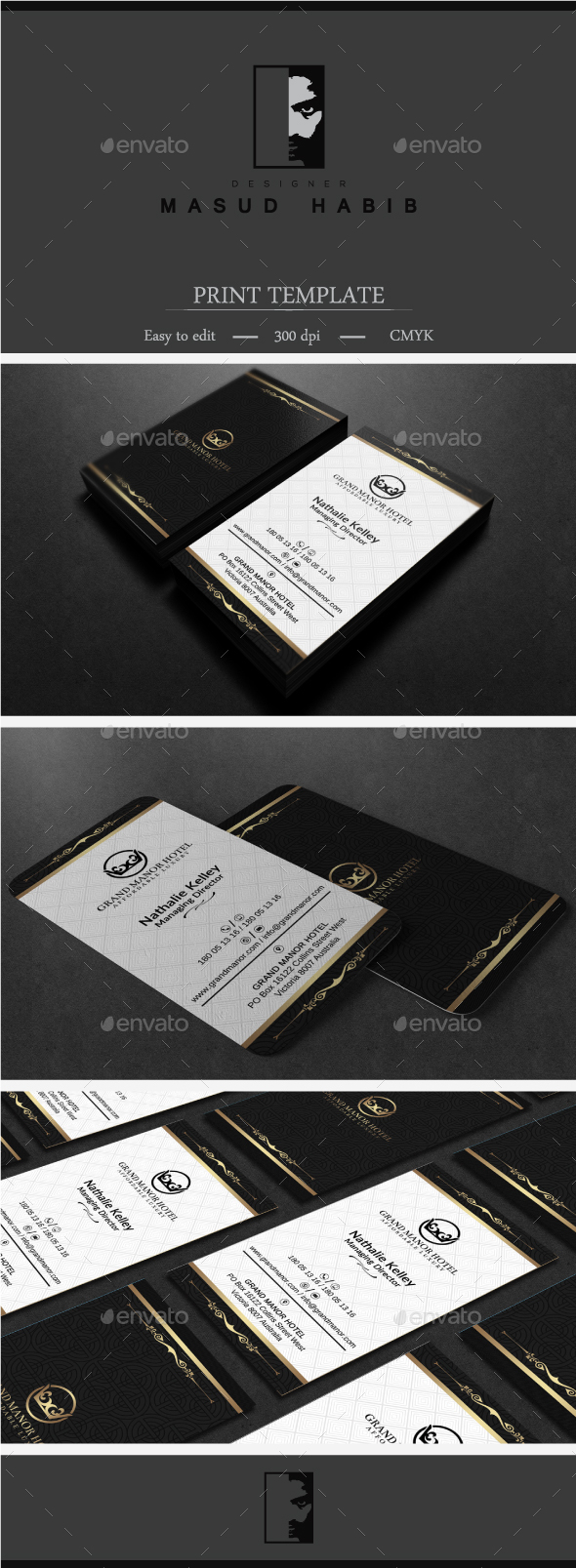 Gold And Black Business Card 3 - Corporate Business Cards