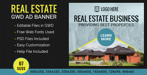 GWD | Real Estate HTML5 Ad Banner - 07 Sizes - CodeCanyon Item for Sale