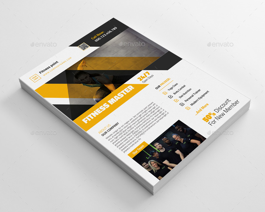 Gym Fitness Business Flyer