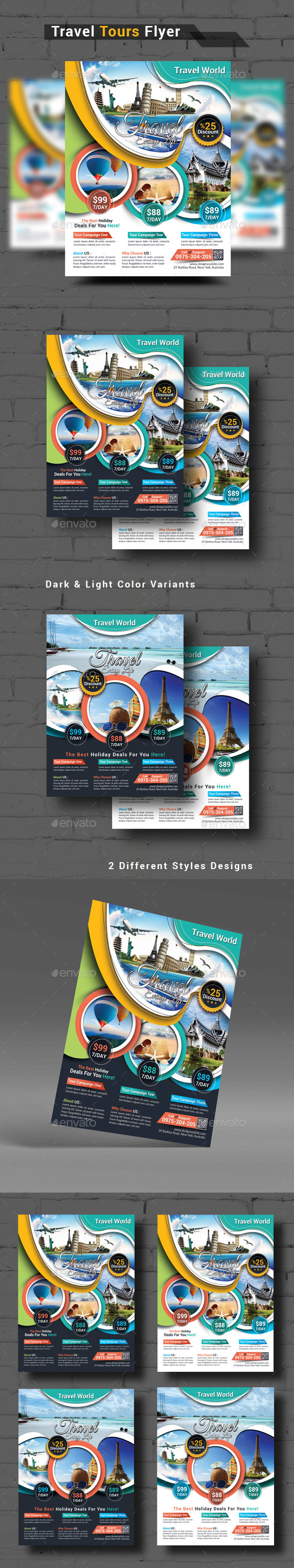 Travel Tours Flyer - Corporate Flyers