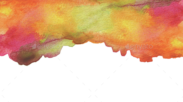 Abstract watercolor brush strokes painted background. Texture pa - Stock Photo - Images