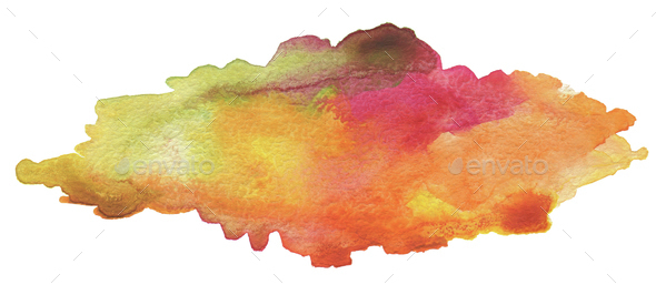 Abstract acrylic and watercolor brush strokes painted background - Stock Photo - Images