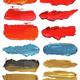 Collection of abstract acrylic brush strokes. - PhotoDune Item for Sale