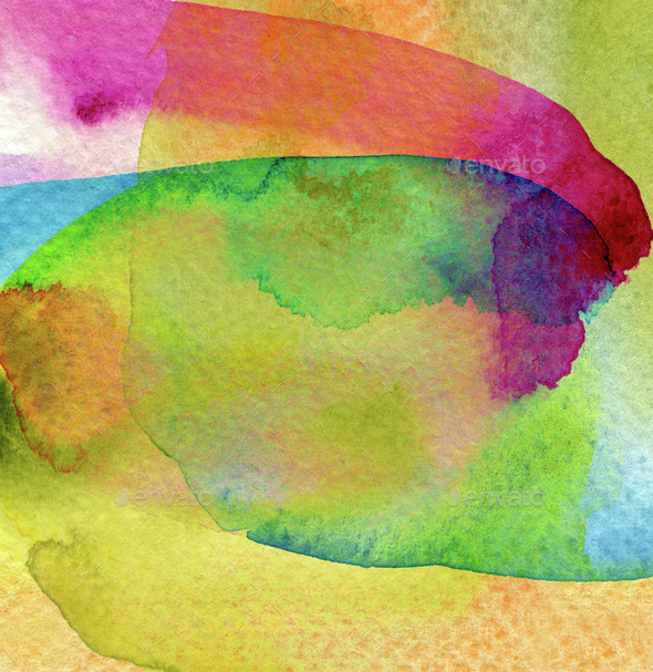 Abstract watercolor painted background. - Stock Photo - Images