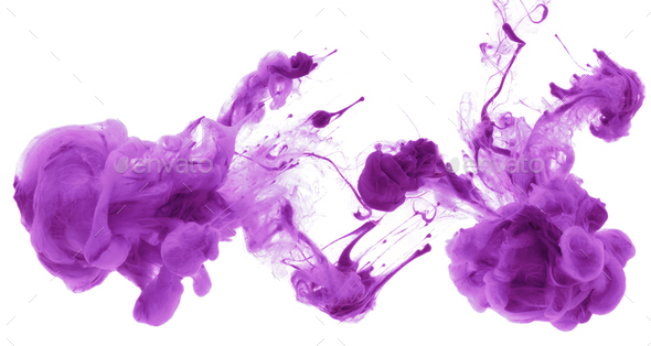 Acrylic colors in water. Abstract background. - Stock Photo - Images