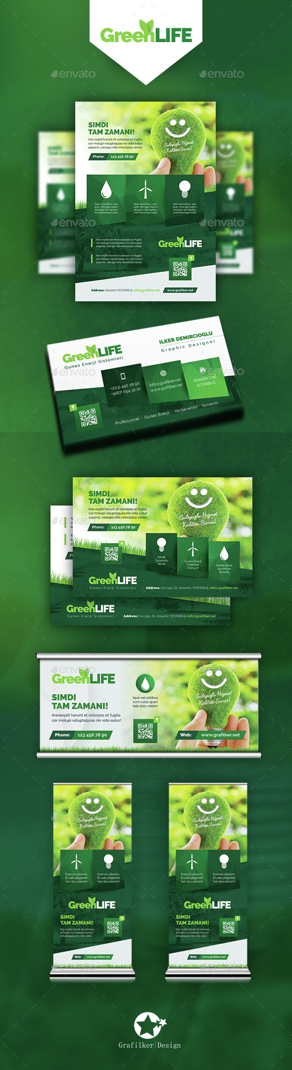 Green Energy Bundle Templates - Corporate Flyers