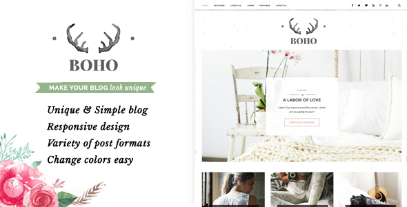 Bohopeople Persional WordPress Blog Theme