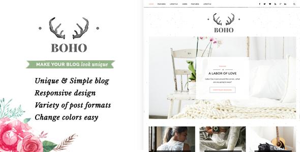Bohopeople Persional WordPress Blog Theme