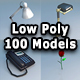 Low Poly 100 Models Pack - 3DOcean Item for Sale