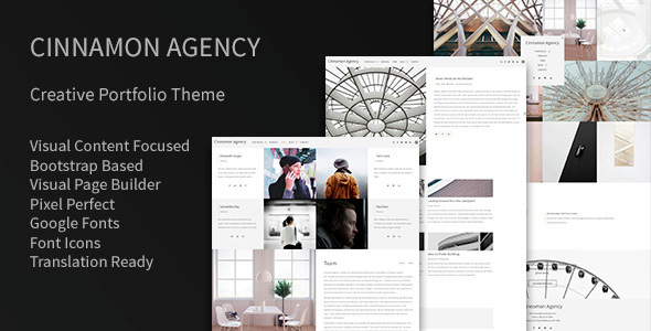Cinnamon Agency - Creative Portfolio Theme