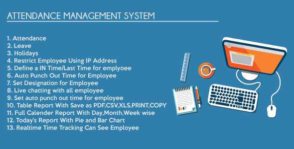 Timesheet Attendance Management System - CodeCanyon Item for Sale
