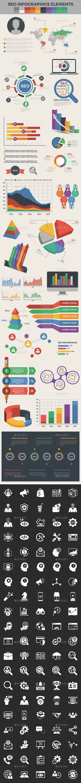 Seo Infographic Elements - Infographics
