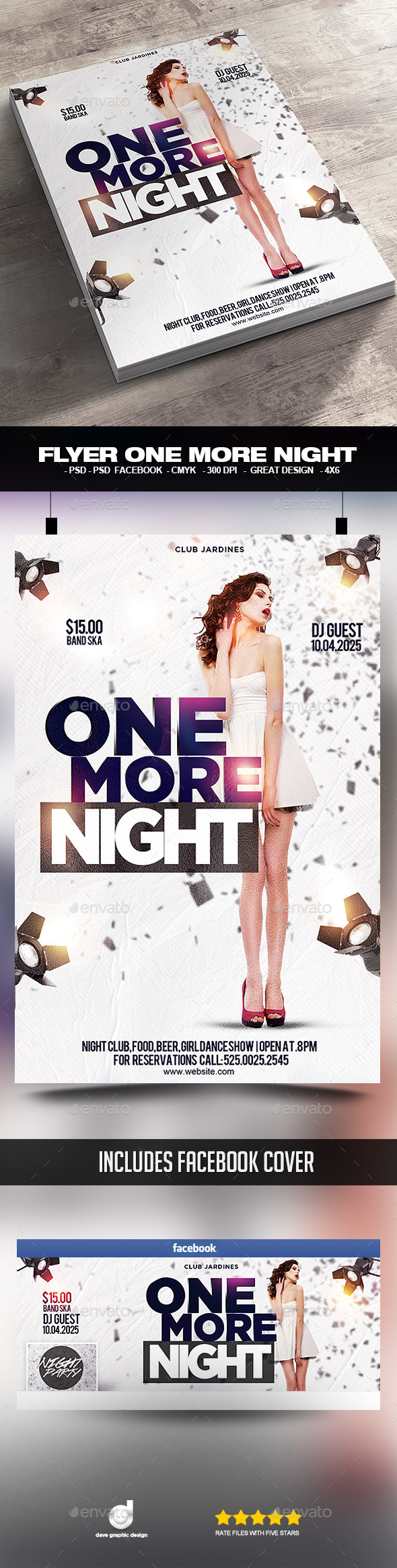 Flyer One More Night - Clubs & Parties Events