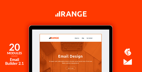 Range Email Template + Online Emailbuilder 2.1 - Newsletters Email Templates