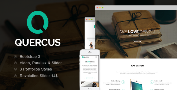 Quercus - Responsive HTML Template - Corporate Site Templates
