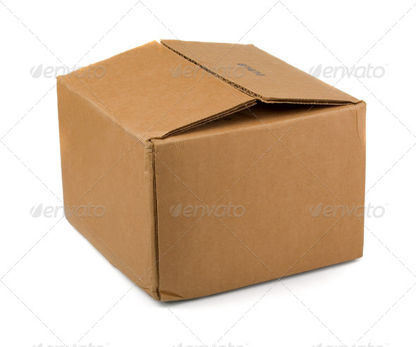Cardboard carton box - Stock Photo - Images