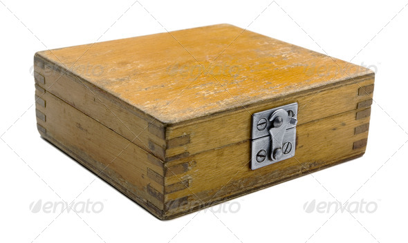 Old wooden box - Stock Photo - Images