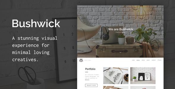 Bushwick – One-Page Parallax HTML5 Template