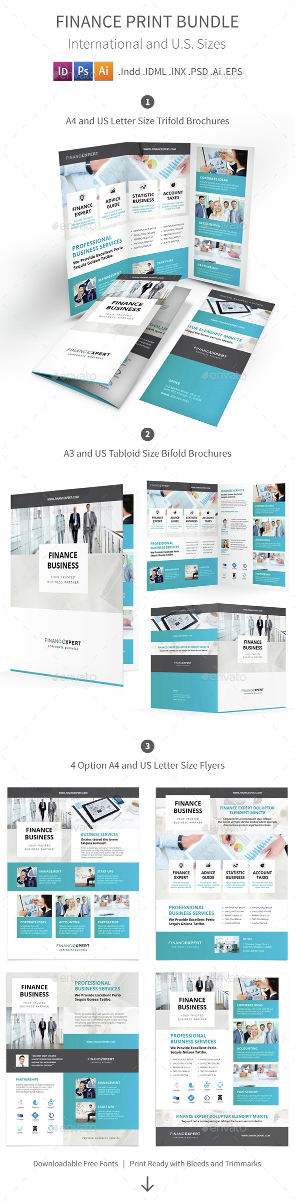 Finance Print Bundle - Corporate Brochures