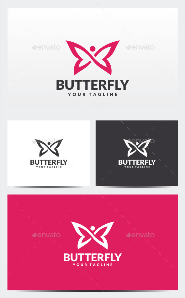 Infinity Butterfly Logo - Animals Logo Templates