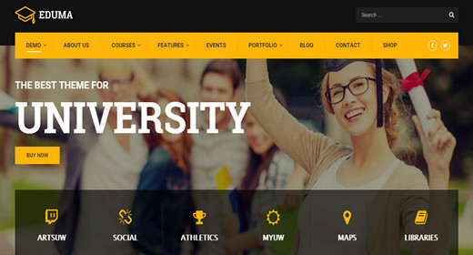 A Great WordPress Theme for School