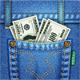 Jeans Pocket with Dollar Bills - GraphicRiver Item for Sale