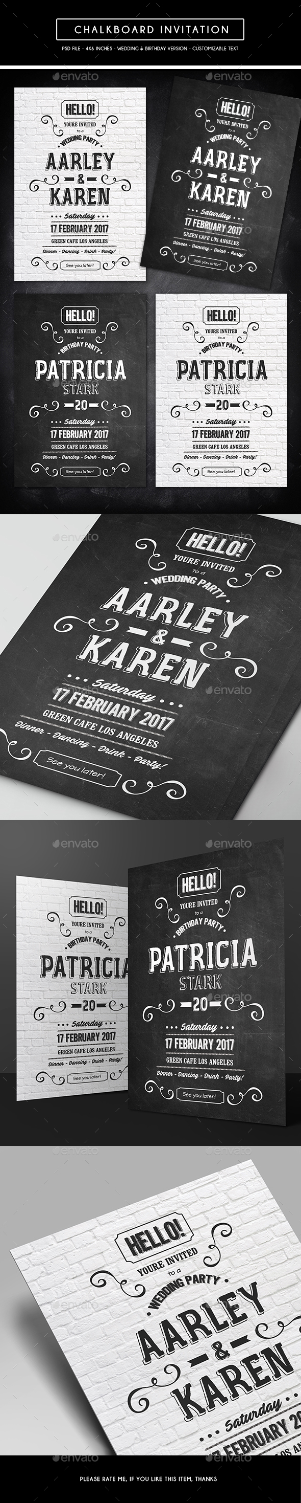 Chalkboard Invitation - Invitations Cards & Invites