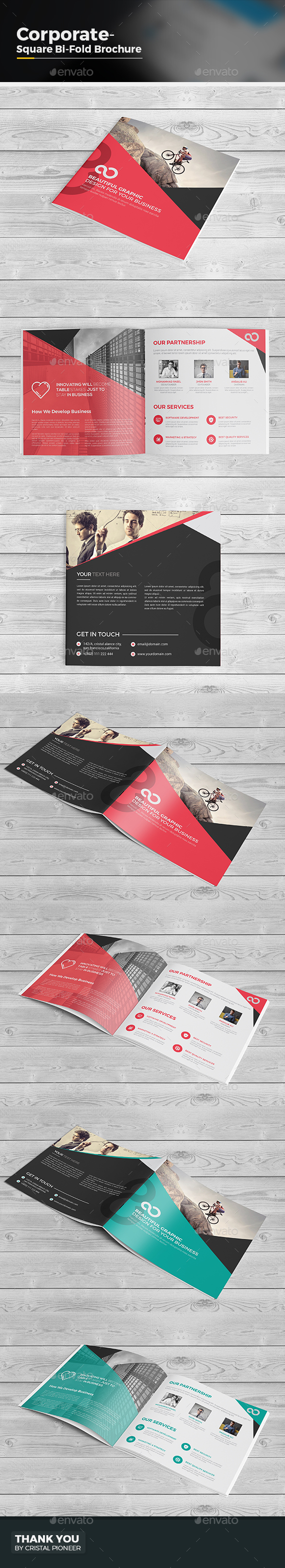 Bi Fold Brochure-Square - Corporate Brochures