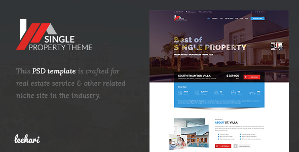Villa - Single Property PSD Template