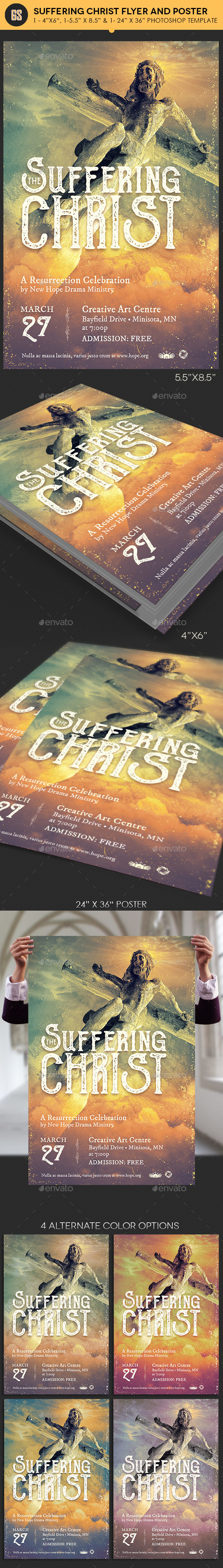 Suffering Christ Flyer Poster Template - Church Flyers