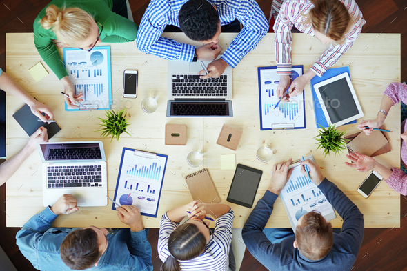 Working in team - Stock Photo - Images