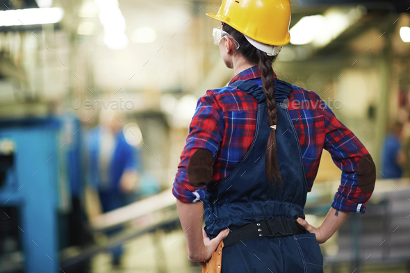 Woman as engineer - Stock Photo - Images