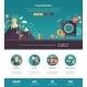Flat Design Investments Website Header Banner - GraphicRiver Item for Sale