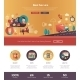 Flat Design Best Service Website Header Banner - GraphicRiver Item for Sale