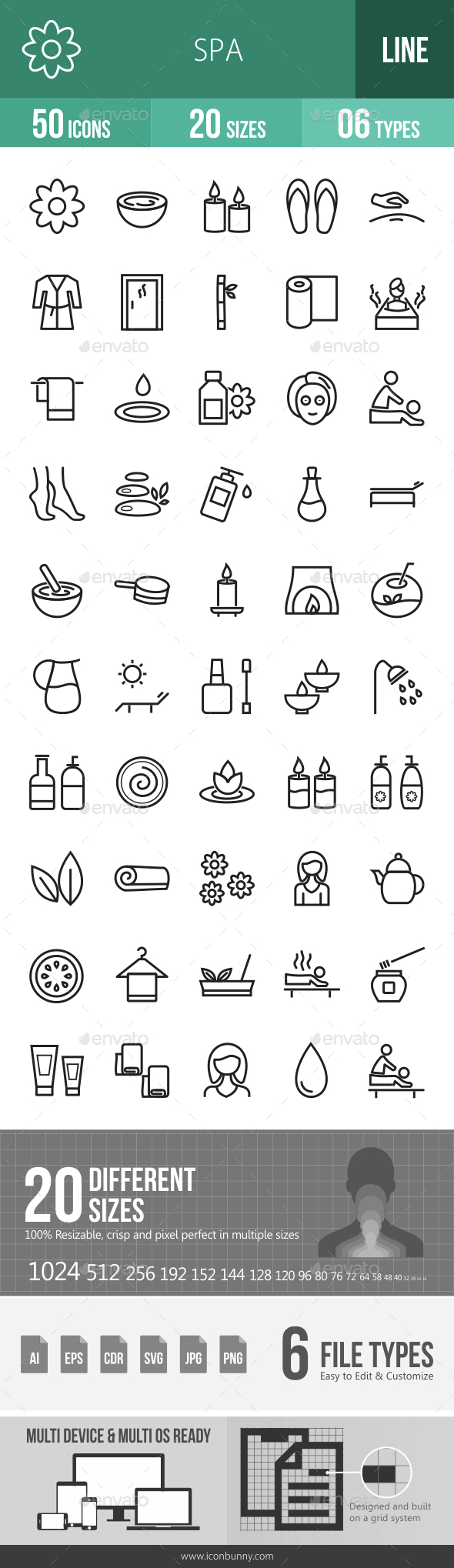 Spa Line Icons - Icons