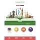 Flat Design Language School Website Header Banner - GraphicRiver Item for Sale