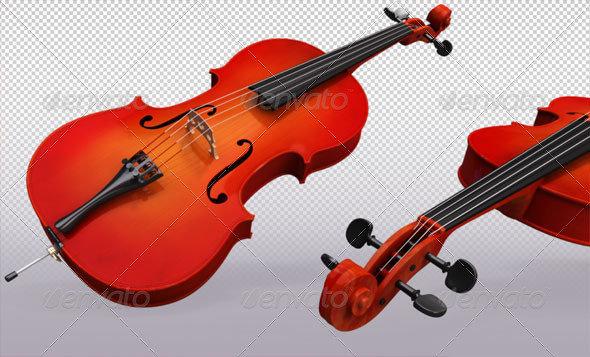 Cello - Objects 3D Renders