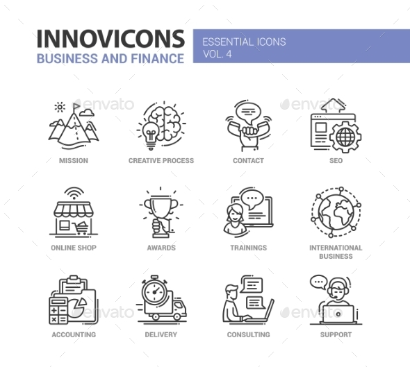 Office, Business Modern Thin Line Design Icons - Concepts Business
