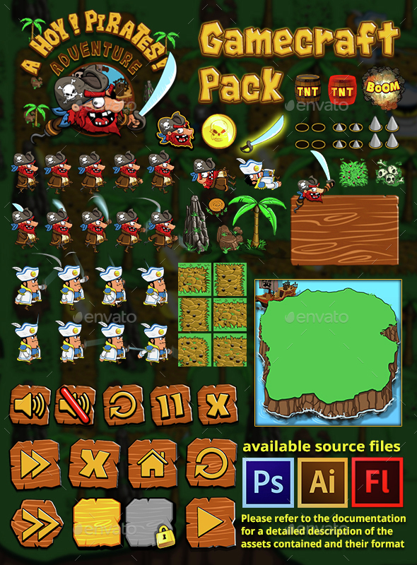 Ahoy! Pirates Adventure - Game Assets - Game Kits Game Assets