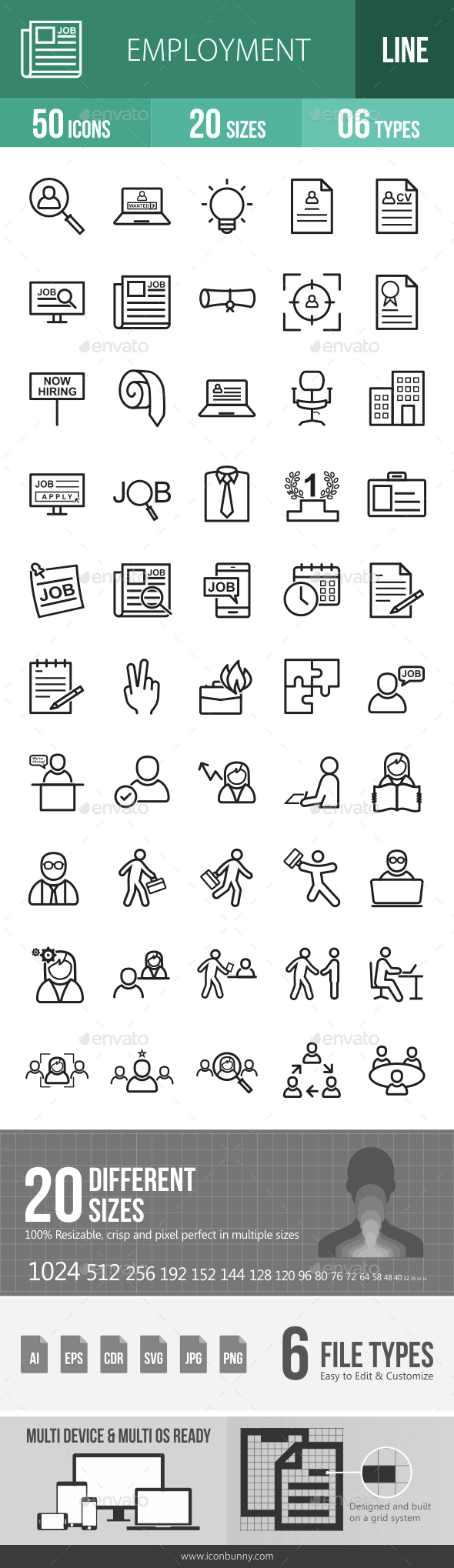 Employment Line Icons - Icons