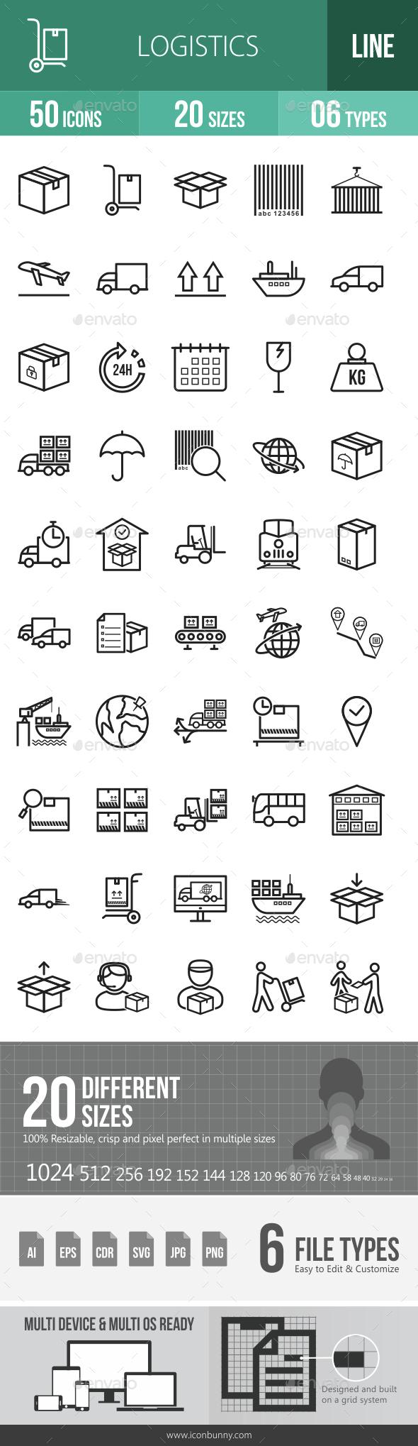 Logistics Line Icons - Icons