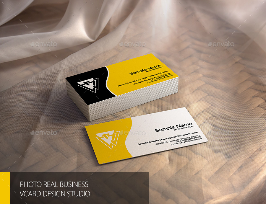 Business Card vCard Mock-up by Bennet1890 | GraphicRiver