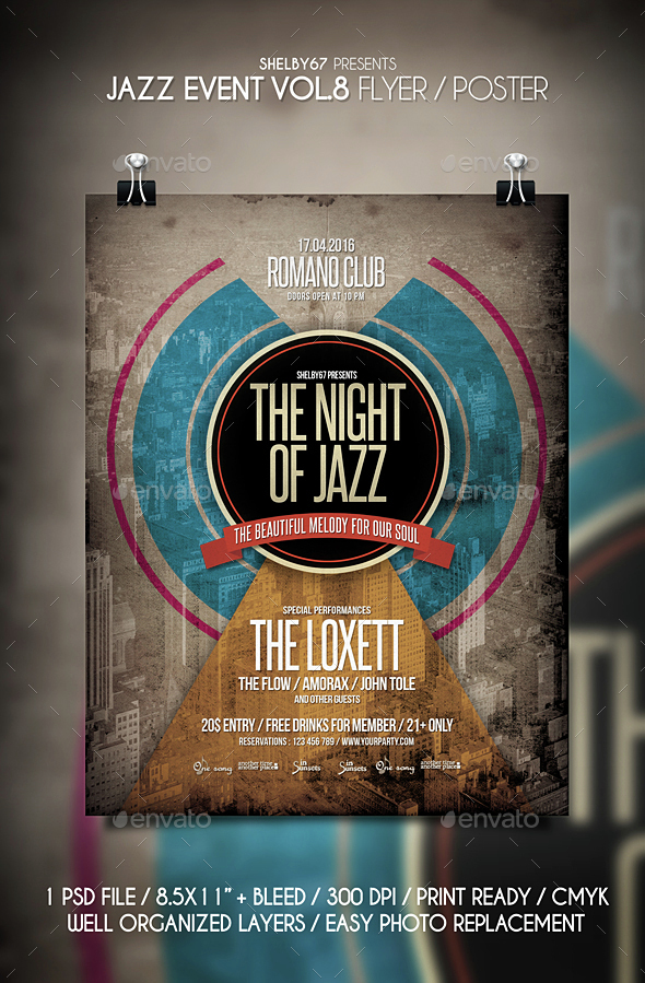 Jazz Event Flyer / Poster Vol 8 - Events Flyers