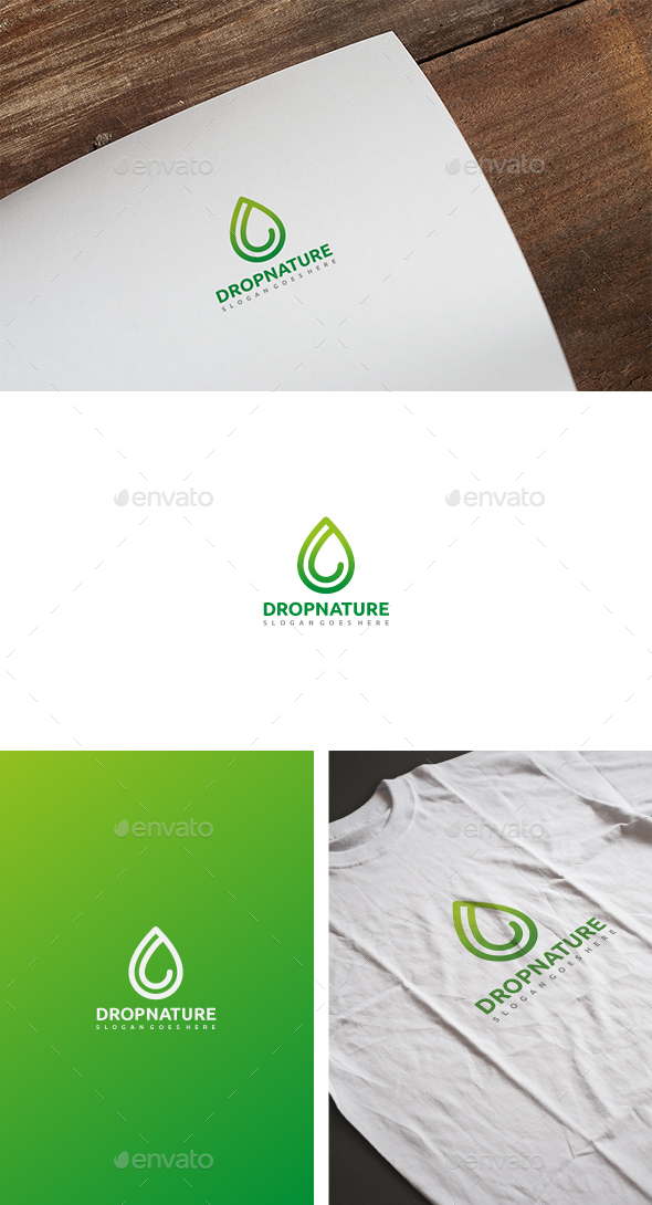 Drop Nature Logo - Nature Logo Templates