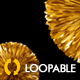Flying Golden Pompoms - Romantic Holiday Decoration - VideoHive Item for Sale