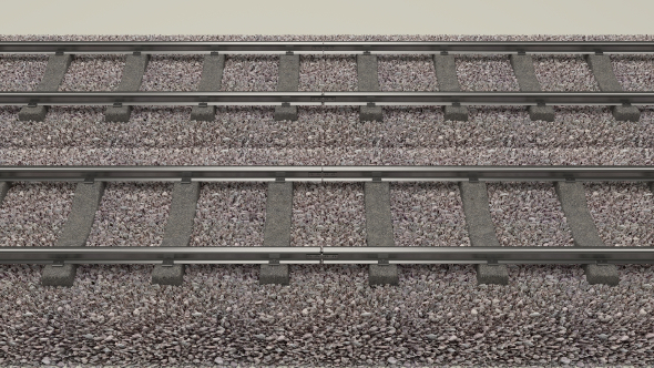 Train Track Double - 3DOcean Item for Sale