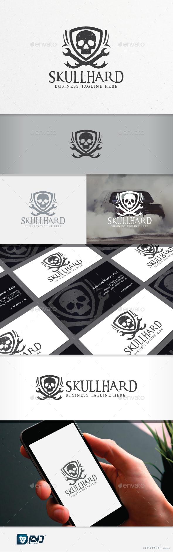 Skull Hard - Racing Team - Symbols Logo Templates